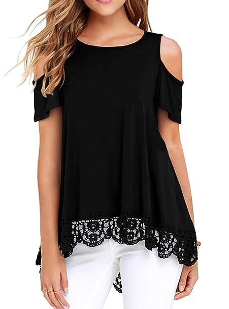 Volcom Womens Colder Shoulder Ruffled Edges Short Sleeve Shirt