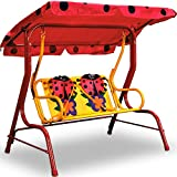 Hollywoodschaukel Kinder Marienkäfer rot Kinderschaukel 2 Sitzer Gartenschaukel Garten