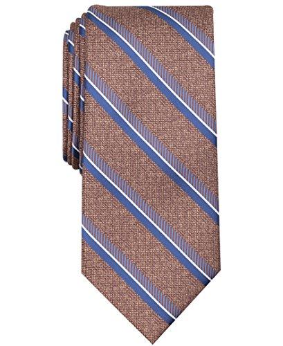 Perry Ellis Men's Kelly Stripe Tie, taupe, One Size - Mens Taupe Stripe