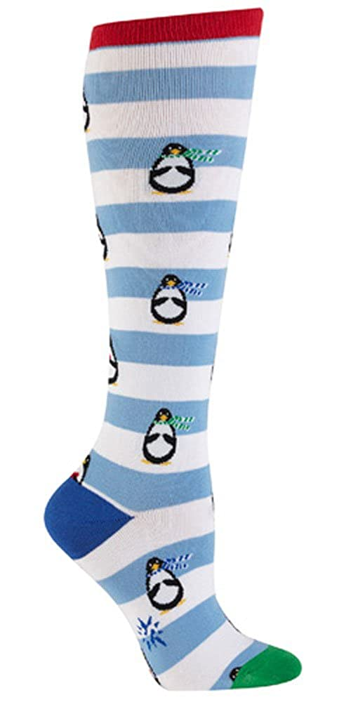 Sock It To Me Penguin Stripe Knee High Socks SOCKIT-F0199