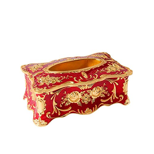 Creative Design Tissue Box Cover Zinc Alloy Ornaments for Home Office Decor , E by YANXH home (Image #1)
