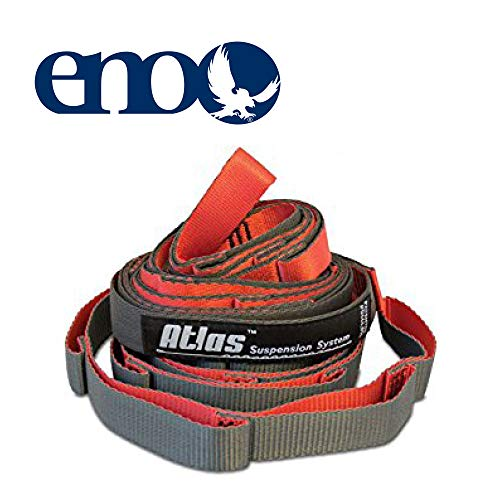 ENO – Eagles Nest Outfitters Atlas Chroma Hammock Straps, Suspension System, Red Charcoal