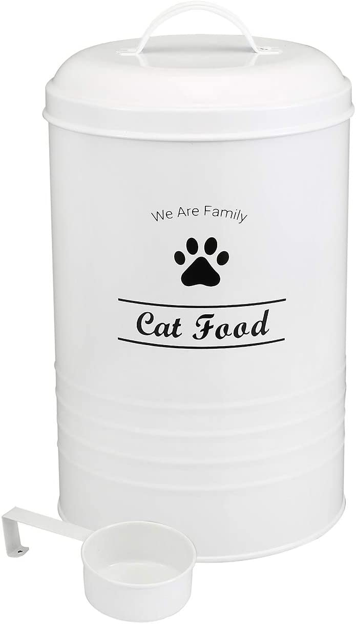 Geyecete Dog Food Container - Pets Good Dog Food Storage Canister, 4lbs Capacity - Scoop Included