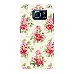 HomeSoGood Beautifully Engineered Florar Pattern Multicolor 3D Mobile Case For Samsung S6 ( Back Cover)