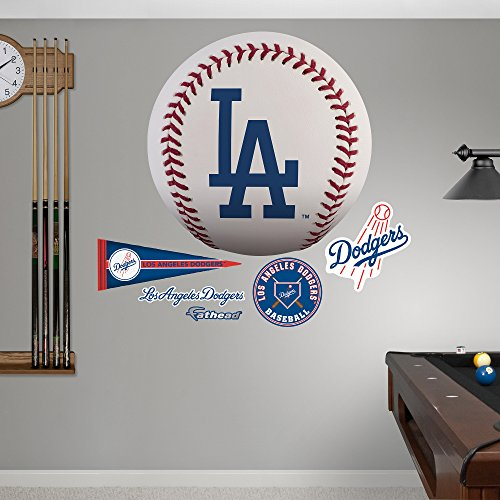MLB Los Angeles Dodgers Baseball Logo Fathead Real Big Decals, One Size, Multicolor