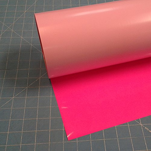 "Siser Easyweed Fluorescent Pink 15"" x 3' Iron on Heat Transf"