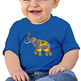 FHKSAFZ Unisex Decorative Indian Elephant Baby Novelty Tops Fashion Kids Round Neck Cotton Baby Toddler T Shirt Tops