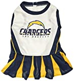 Pets First NFL Los Angeles Chargers Cheerleader Dress For Dogs & Cats - NFL Team Color - Medium
