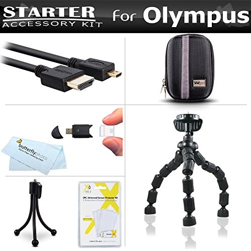 Starter Accessories Kit For The Olympus SZ-12, SZ-31MR iHS,