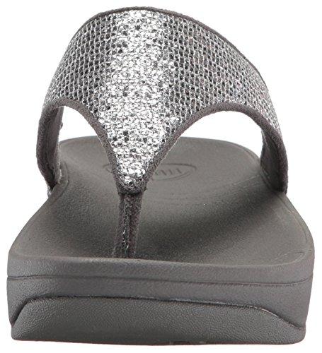 Fitflop Lulu Superglitz de la mujer sandalias de textil Silver
