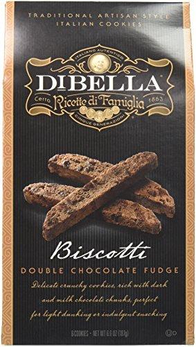 DIBELLA Biscotti Double Chocolate Fudge, 6.6 Ounce - Biscotti Chocolate