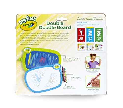 511N EZrJEL - Crayola My First Double Doodle Board Drawing Tablet, Toddler Toy, Gift