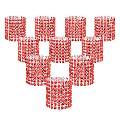 KEIVA Napkin Rings, Pack of 120 Rhinestone Napkin