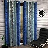 Optimistic Home Curtain Tree Eyelet Single 1 Piece Blue Polyester Curtain,Window 5 Feet