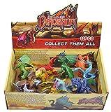 FlyKits Dinosaur Toys Play Set Plastic Realistic Dinosaurs Figures Pack of 12 Including T-rex, Stegosaurus, Monoclonius, Ceratosaurus for 3+ Kids Toddler Boys Girls Birthday Gift (Colorful)