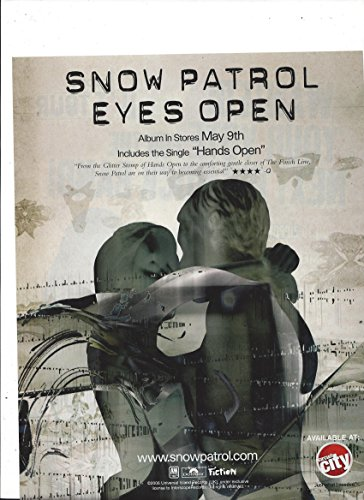 Promotional 2006 Music **PRINT AD** With Snow Patrol Eyes Open