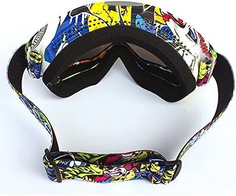 Anti-UV//Coupe-Vent//Anti-Sable//Anti-Poussi/ère Cyclisme Goggles HYUGO Lunettes de Protection Dirt Bike pour Activit/és Ext/érieures V/élo Snowboard Motocross