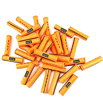 COTU (R) 48 pieces Variety Pack Perm Rods for Hair - Sizes: Small, Medium, Large & Jumbo - Colors: Tangerine, Sandy, Lilac & Gray
