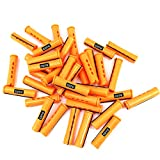 24 pc of COTU (R) Hair Perm Rods Jumbo Size - Tangerine Color