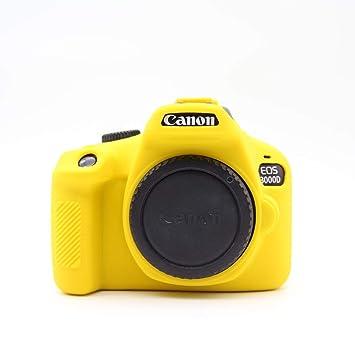 Yunchenghe Bolsa de Silicona Suave Liviana Piel Ultrafina Funda Protectora de Goma cámara Digital ,para Canon EOS 3000D/4000D EOS Rebel T100 - ...