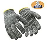 RefrigiWear Midweight String Knit Glove Liners, Pack of 12 Pairs (Multicolor, Small)