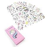 Joyfun Gifts for 3-10 Year Old Girls Unicorn Temporary Tattoos Kids 18 Sheets Unicorn Birthday Party...
