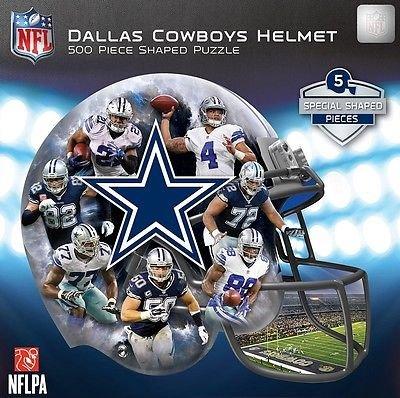 Masterpieces 91668 Dallas Cowboys Helmet Shaped Puzzle - 500 Pieces