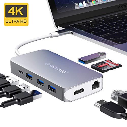 USB C Hub, VANMASS 9 in 1 Alumin...