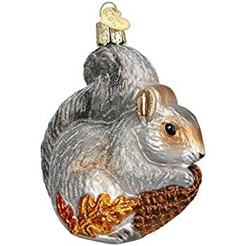 Amazoncom Old World Christmas Squirrel Glass Blown Ornament