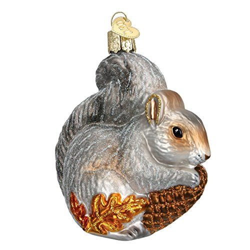 (Old World Christmas Ornaments: Hungry Squirrel Glass Blown Ornaments for Christmas Tree )
