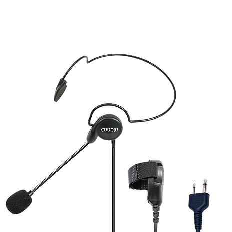 Amazon.com: Coodio Tactital Behind-the-Head Earpiece Headset Mic ...