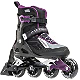 Rollerblade Macroblade W 80 ABT Specific Fit SG7 Bearings Inline Skates, Black/Purple, US Women's 10.5