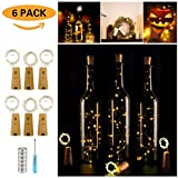 Tools & Hardware : Wine Bottle Lights with Cork,LED Cork Lights for Bottle 6 Pack,Copper Wire Bottle Lights for DIY, Party, Decor, Christmas, Halloween,Wedding(Warm White)