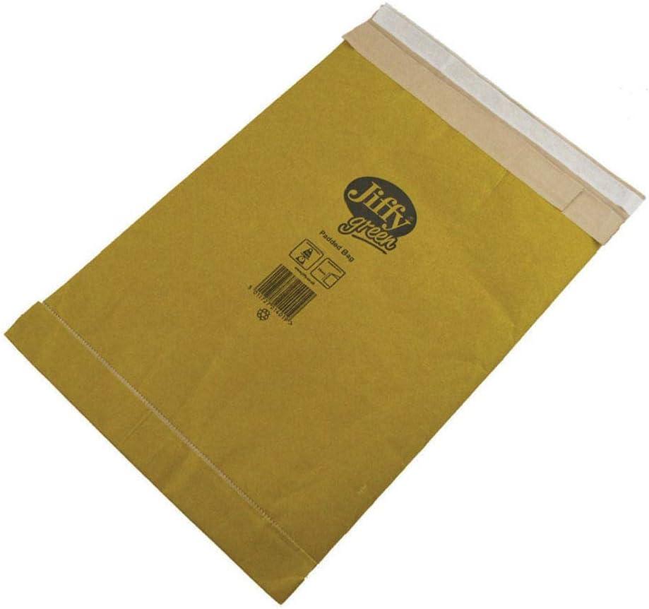 Sobres acolchados Jiffy JPB-MP-0-10 n/úmero 0, 135 x 229 mm, 10 unidades color marr/ón
