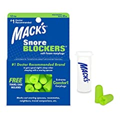 For a Peaceful Sleep              Mack's Snore Blockers Foam Earplugs can help you block outside noises to give you a sound sleep. These earplugs can be used for a wide variety of purposes such as for blocking out snore noises...