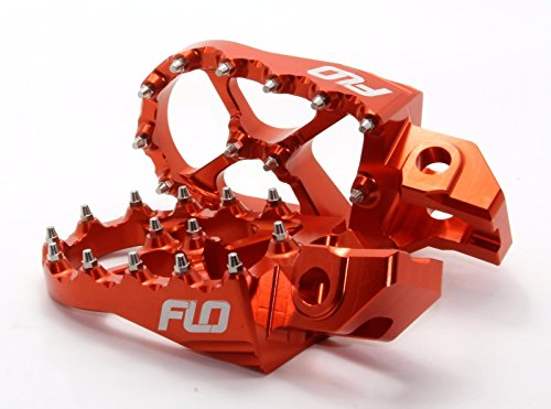 Ktm Foot Pegs Flo Motorsports for 2016 2017 KTM Foot Pegs 125sx/150sx/ 250-450sx-f and Xc-f Orange fpeg-795-2org by Flo Motorsports (Image #2)