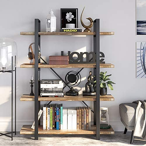 IRONCK Bookshelf and Bookcase 4-Tier