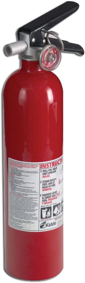 Kidde 21005776 Pro 110 Consumer Fire Extinguisher, Multi Purpose, UL A, 10-B C, Red