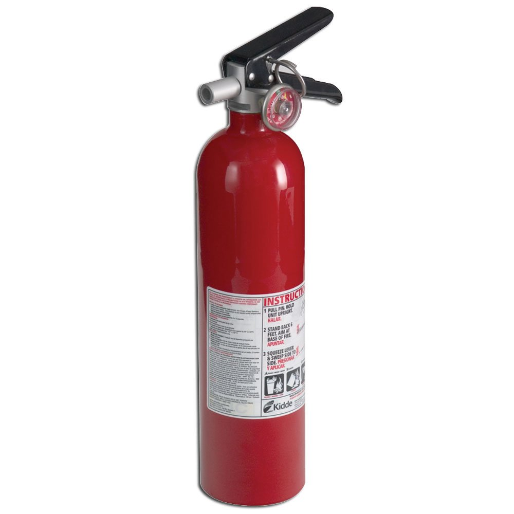 Kidde 21005776 Pro 110 Consumer Fire Extinguisher, Multi Purpose, UL Rated 1-A, 10-B:C, Red