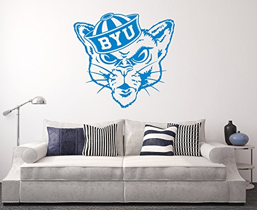 West Mountain BYU Cougars Wall Decal Home Decor Art NCAA Team Sticker