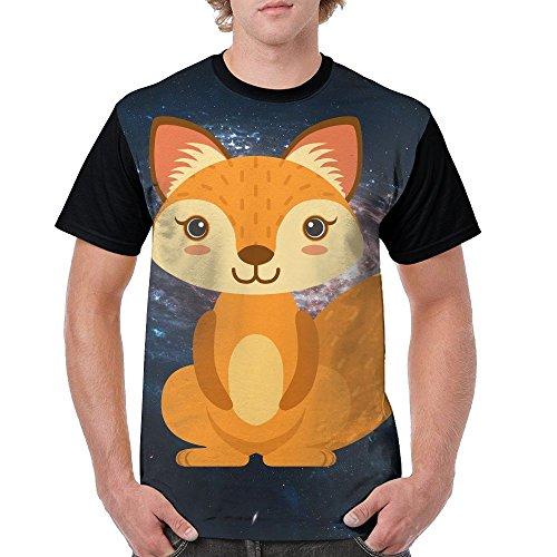 Mens Squatting Fox Funny T Shirts Black Size - Jacobs Mark Shades