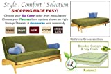 THE FUTON SHOP DILLON MAPLE FULL OLIVE WALL HUGGER SOFA BED / LOVE SEAT SETS
