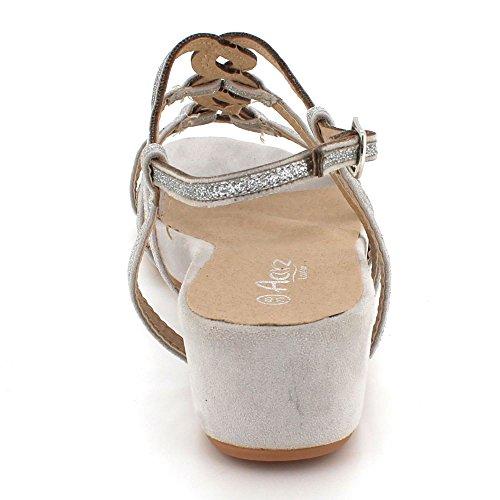 Décontractée Femmes de Soir Multi Dames compensé Argent Strap Taille Mariage Sandales Talon Diamante Fête Bal Chaussures des BB0r4xq
