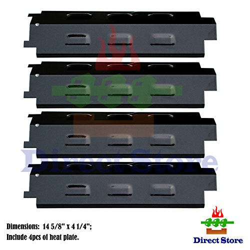Direct store Parts DP131 (4-pack) Porcelain Steel Heat Plates Replacement Charbroil,Kenmore,Master Chef,Thermos,Master Forge,Brinkmann,Savor Pro,Grill King,Kmart,Gas Grill Models (Porcelain Steel)