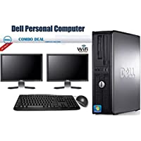 Dell OptiPlex 780 Desktop Computer with Intel Core 2 Duo 2.8 GHz 8GB RAM 500GB HDD DVD ROM Windows 7 Pro 64 Bit Keyboard, Mouse 20 Inch Monitor WiFi (Certified Refurbished)