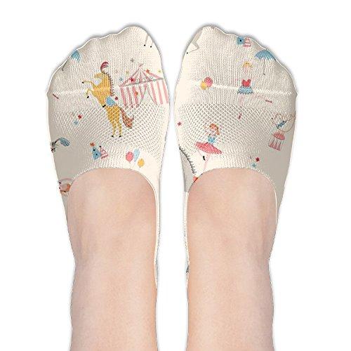 CKDKE2 Custom Circus Troupe Womens Girls Casual Ankle Low Cut Invisible  Boat Liner Socks Short Sock 703011545