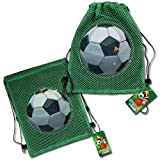 (12 count) SOCCER BACKPACK Sling Tote Bag - PARTY FAVORS - (ALL QUANTITIES AVAILABLE, JUST ASK!)