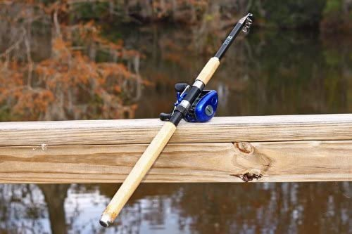BASS 6Ft 10 Inch 2.1M CARBON Telescoping Fishing Rod Reel Combo by FTUSA