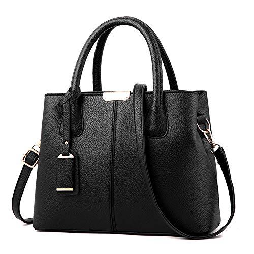 (YKXY Classic Women Purse Handbag for Women Satchel Purse PU Leather Litchi Pattern Fashio )