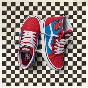 (Vans Kids X Marvel SK8-Hi Zip Skate Shoe (13.5 M US Little Kid, Spider-Man/True White))